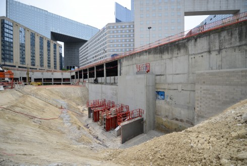 Le chantier Sky Light le 11 mai 2015 - Defense-92.fr