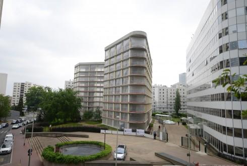 La rénovation de l'immeuble E+ le 15 juin 2015 - Defense-92.fr