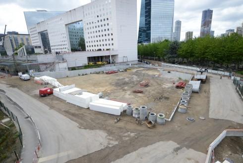 Le terrain de l'hôtel CityzenM le 1er juin 2015 - Defense-92.fr