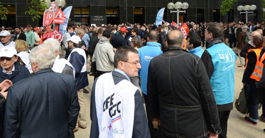 Les salariés d'Areva se mobilisent pour défendre leur emploi