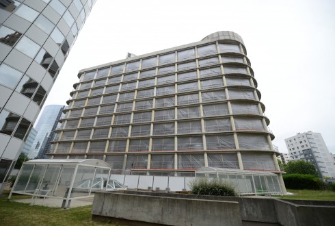 La rénovation de l'immeuble E+ le 22 juin 2015 - Defense-92.fr