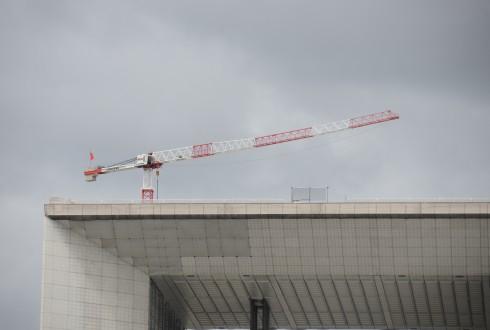 Les travaux de rénovation de la Grande Arche le 13 juillet 2015  - Defense-92.fr