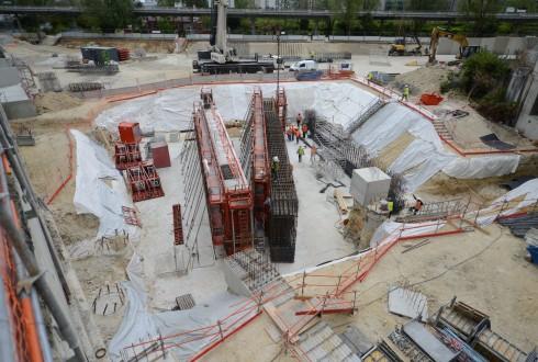 Les travaux du projet Sky Light le 13 juillet 2015 - Defense-92.fr