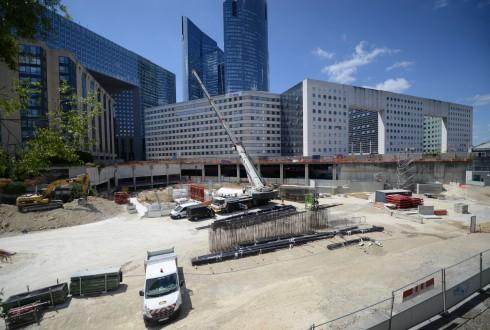 Les travaux du projet Sky Light le 6 juillet 2015 - Defense-92.fr