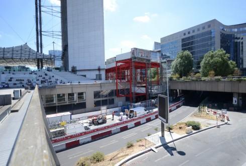 Les travaux de rénovation de la Grande Arche le 6 juillet 2015  - Defense-92.fr