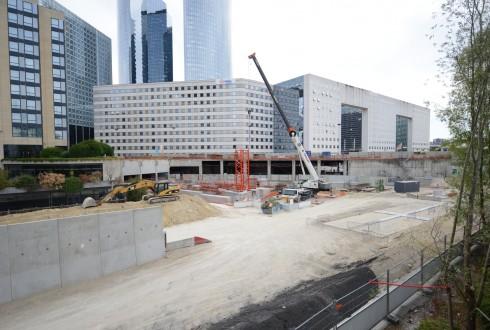 Le chantier Sky Light le 1er août 2015 - Defense-92.fr