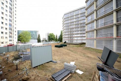 La rénovation de l'immeuble E+ le 10 août 2015 - Defense-92.fr