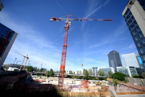 Le chantier Sky Light le 10 août 2015 - Defense-92.fr