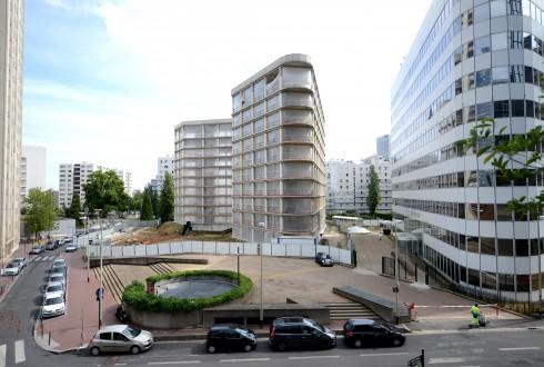 La rénovation de l'immeuble E+ le 17 août 2015 - Defense-92.fr