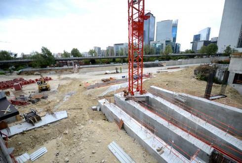 Le chantier Sky Light le 17 août 2015 - Defense-92.fr