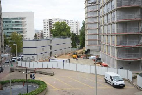 La rénovation de l'immeuble E+ le 7 septembre 2015 - Defense-92.fr