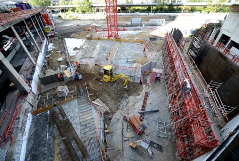 Le chantier Sky Light le 14 septembre 2015 - Defense-92.fr