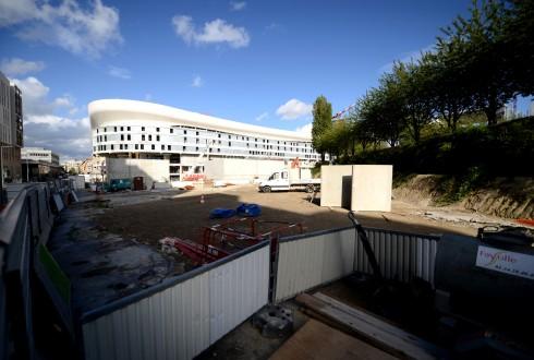 Les travaux de la promenade de l'Arche le 14 septembre 2015 - Defense-92.fr