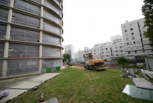 La rénovation de l'immeuble E+ le 31 août 2015 - Defense-92.fr