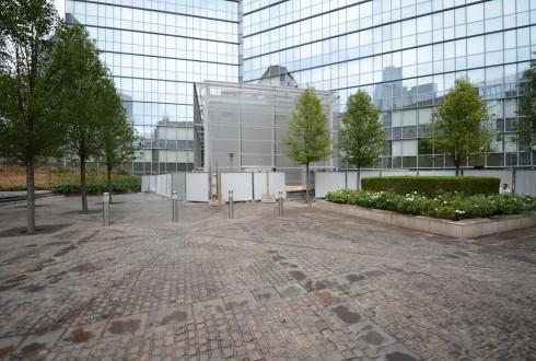 Les travaux de la tour Athena le 31 août - Defense-92.fr