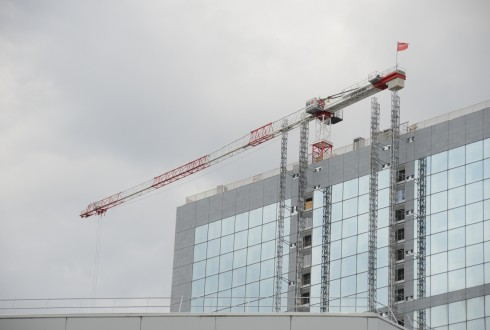 Les travaux de rénovation de la Grande Arche le 31 août 2015  - Defense-92.fr