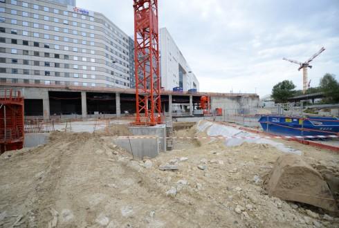 Les travaux du projet Sky Light le 31 août 2015 - Defense-92.fr