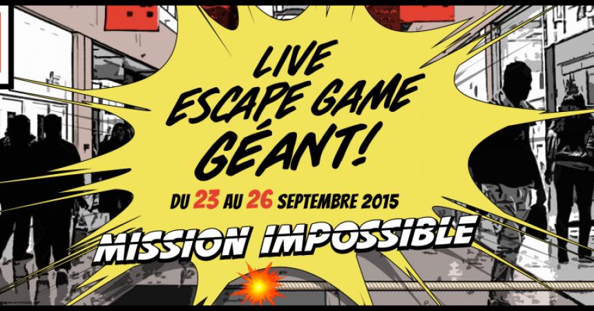Le premier « Live Escape Game » organisé aux 4 Temps