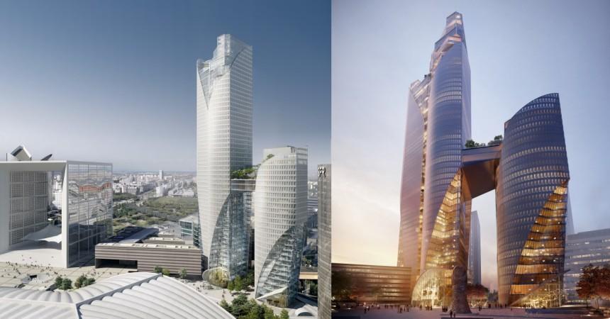 Unibail-Rodamco dévoile les tours « Sisters » pour remplacer la tour Phare