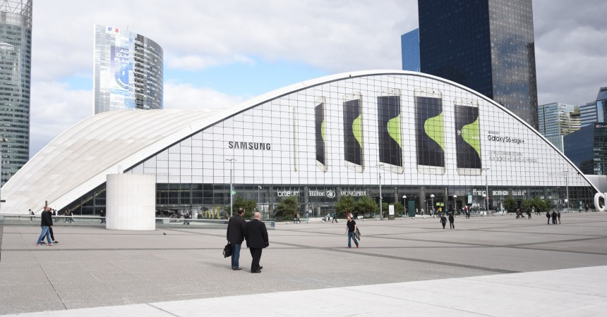 Samsung de retour sur le Cnit avec une publicité géante