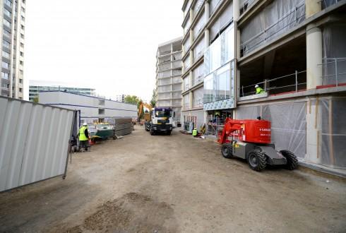 La rénovation de l'immeuble E+ le 5 octobre 2015 - Defense-92.fr