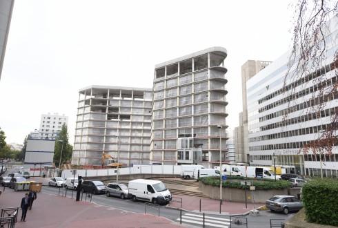 La rénovation de l'immeuble E+ le 12 octobre 2015 - Defense-92.fr