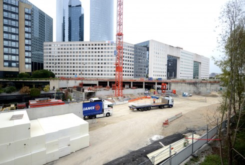 Le chantier Sky Light le 5 octobre 2015 - Defense-92.fr