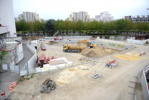 Le chantier de l'hôtel CitizenM le 5 octobre 2015 - Defense-92.fr