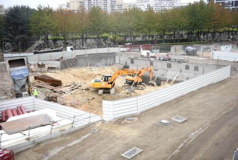 Le chantier de l'hôtel CitizenM le 19 octobre 2015 - Defense-92.fr