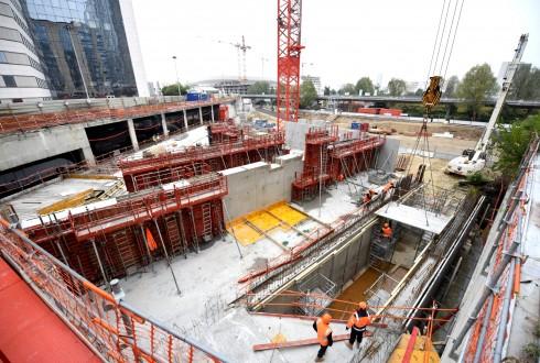 Le chantier Sky Light le 19 octobre 2015 - Defense-92.fr