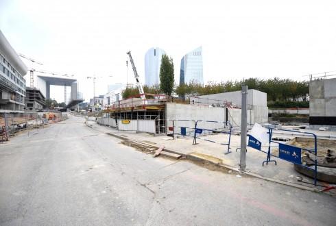 Le chantier de l'Arena 92 le 19 octobre 2015 - Defense-92.fr