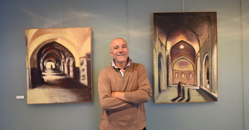 Djilali Kadid expose ses peintures à l'Eglise Notre Dame de Pentecôte