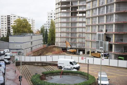 La rénovation de l'immeuble E+ le 28 octobre 2015 - Defense-92.fr
