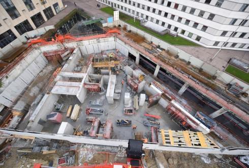 Le chantier Sky Light le 28 octobre 2015 - Defense-92.fr
