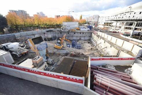 Le chantier de l'hôtel CitizenM le 28 octobre 2015 - Defense-92.fr