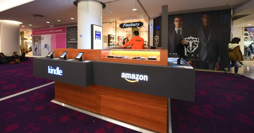 Amazon installe un pop-up store aux 4 Temps