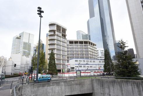 La rénovation de l'immeuble Ampère e+ le 3 novembre  2015 - Defense-92.fr