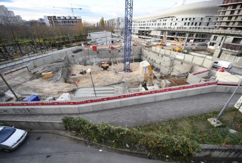 Le chantier de l'hôtel CityzenM le 3 novembre 2015 - Defense-92.fr