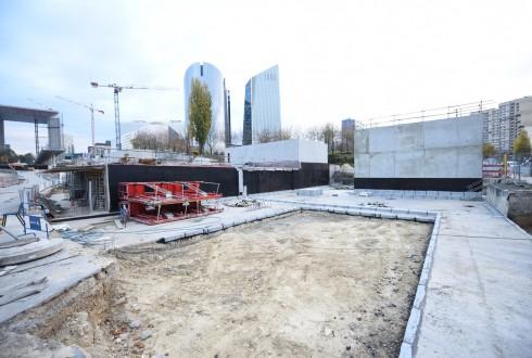 Les travaux d'aménagement des Jardins de l'Arche, le 3 novembre 2015 - Defense-92.fr