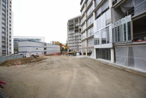 La rénovation de l'immeuble Ampère e+ le 10 novembre  2015 - Defense-92.fr