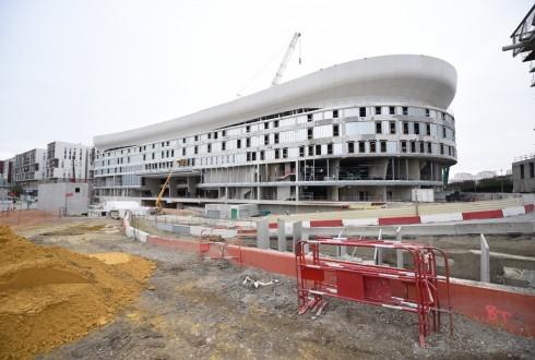 Le chantier de l'Arena 92 le 10 novembre 2015 - Defense-92.fr
