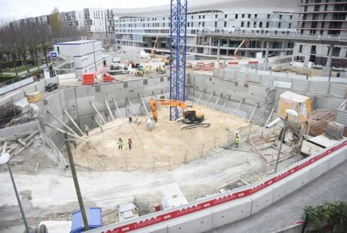 Le chantier de l'hôtel CityzenM le 10 novembre 2015 - Defense-92.fr
