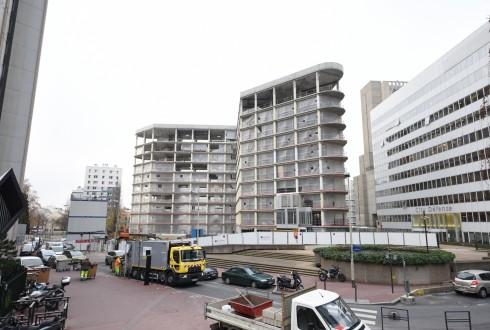 La rénovation de l'immeuble Ampère e+ le 15 décembre 2015 - Defense-92.fr
