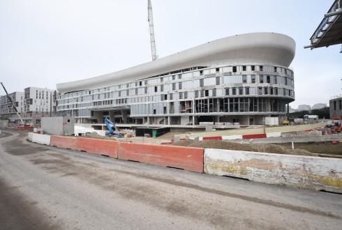 Le chantier de l'Arena 92 le 15 décembre 2015 - Defense-92.fr