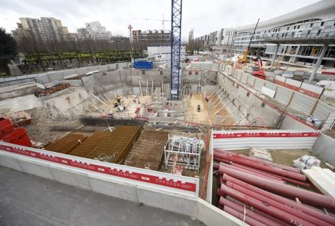 Le chantier de l'hôtel CityzenM le 30 novembre 2015 - Defense-92.fr