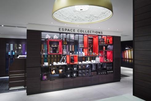 L'espace collections de la boutique Nespresso du Cnit - DR