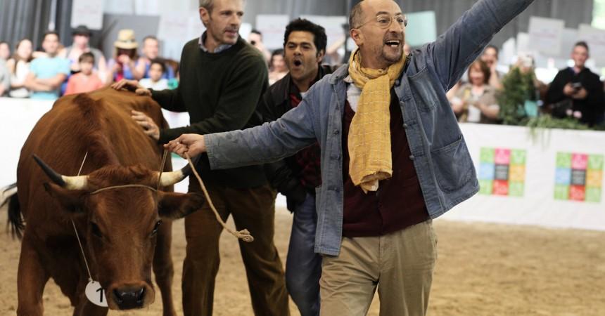 La vache en avant-première avec l'équipe du film à l'UGC des 4 Temps