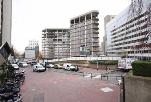 La rénovation de l'immeuble Ampère e+ le 4 janvier 2016 - Defense-92.fr
