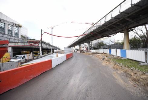 Les travaux de la promenade de l'Arche 4 janvier 2016 - Defense-92.fr