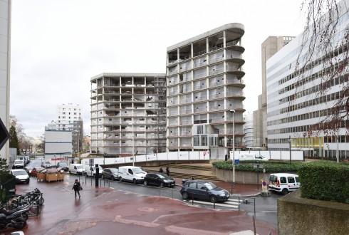 La rénovation de l'immeuble Ampère e+ le 11 janvier 2016 - Defense-92.fr